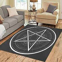 Liz Carter 36X24 inch Teppich Satan Baphomet Star