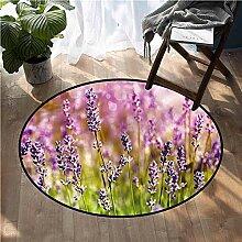 Liz Carter 60cm Runder Teppich Lavendel, duftende