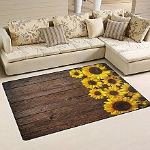 Liz Carter Herbst Sonnenblume Floral Holz