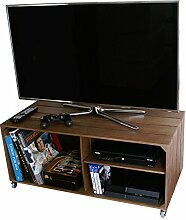 LIZA LINE Holz TV Tisch Fernsehtisch mit 3