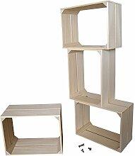 Liza Line Modul Regal System mit 4 Holz