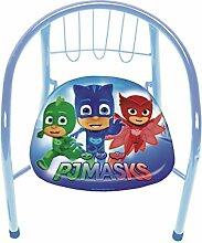 Lizenz PJ Masks Stuhl für Jungen Metall blau 35,5 x 30 x 33,5 cm
