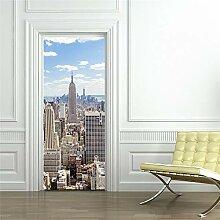 LIZHIOO Türaufkleber New York City, Usa, Szene,