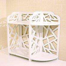 LJ Badezimmer-Doppelt-Regale Kosmetische Aufbewahrungs-Regale Desktop-Ecke Blumen-Racks ( größe : C )