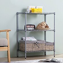 LJ Badezimmer Racks Bodenbelag Badezimmer Lagerung Rack Metall 3 Ebenen Trennwand ( Farbe : A )