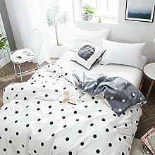 LJ-BT Minimalismus Gedruckt Bettbezug, Baumwolle