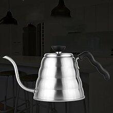 LJ Edelstahl 1L langer Mund dünner Mund Tropfenfänger Typ Kaffee Topf