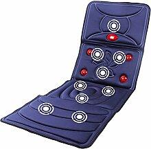 LJ Ganzkörper-Massage-Massage-Matte, Hyperthermie-Massagegerät, 9 Massagemotoren, 8 Modi, blau