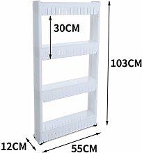 LJ Gap Storage Rack mit Riemenscheibe Rack Multifunktions-Badezimmer Racks ( größe : 103cm )