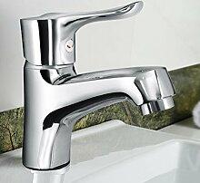 LJ Hahn Alle Kupfer warmen und kalten Waschbecken Badezimmer-Schrank-Bassin-Hahn