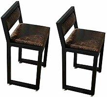 LJ Hocker Vintage Schmiedeeisen Stuhl mit