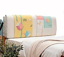 Lj-Jie Kissen Doppelbett Leder Kissen/Nachttisch