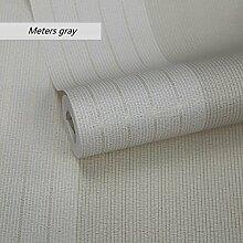 LJ&L Moderne minimalistischen Stil Vlies Tapete - Schlafzimmer Wohnzimmer TV Hintergrund Wandfarbe gestreift Muster von umweltfreundlichen Tapeten,A7,1 roll