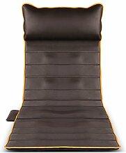 LJ Massage-Matte Ganzkörpermassage, Hyperthermie-Massagegerät, braunes Leder, 175 * 60cm