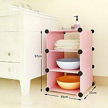 LJ Pink Badezimmer Waschbecken Regal Plastik Lager Separate The Finishing Frame ( größe : A )