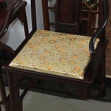 LJ&XJ Chinesischer stil Stuhl-pads, Dick Anti-rutsch Weich Gemütlich Seat sitzkissen, Satin Speisesaal stuhl kissen, Office Bank Indoor Outdoor-L 45x38cm(18x15inch)