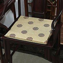 LJ&XJ Chinesischer stil Stuhl-pads, Dick Anti-rutsch Weich Gemütlich Seat sitzkissen, Satin Speisesaal stuhl kissen, Office Bank Indoor Outdoor-H 20x24inch