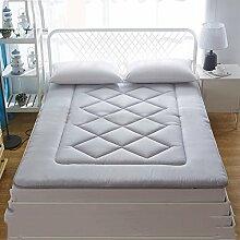 LJ&XJ Dünne matratze,Weiche Baumwolle Tatami matratze Sommer Floor Mat Nicht stickig Tatami-matten-Grau 90x200cm(35x79inch)