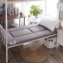LJ&XJ Schlafsaal einzelbett matratze,Anti-Rutsch bodenmatte Matte Weichen Tatami,Dünne Dicke 4cm Verblasst Nicht matratzenauflage-Grau Twinch2