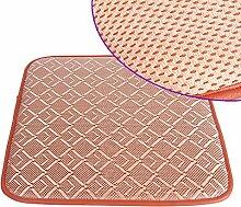 LJ&XJ Sommer Rattan Seat sitzkissen, Weich Gemütlich Atmungsaktive Office Esszimmer stühle kissen, Boden Tatami Sofa Bank Student hocker Indoor Outdoor-Q 25x35cm(10x14inch)