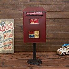 LJFYMX Briefkasten Boden-Mailbox, Vintage