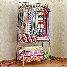 LJHA Floorstanding / Metall kreative Garderobe / Schlafzimmer einfache moderne / Kleiderbügel (3 Farben erhältlich) Kleiderbügel ( Farbe : Gold )