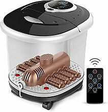 LJHA Fußwanne Automatische Massage Fußbassin Fußbad Elektroheizung Haushalt tiefe Fässer Fußmaschine (schwarz) (43 * 28 * 36cm) Fußwanne