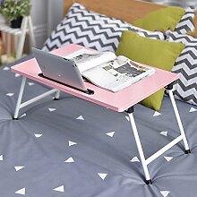 LJHA Klapptisch Laptop-Tisch Bett mit Klapptisch 8 Farben optional 60 * 40cm Tabelle ( Farbe : G )