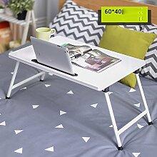 LJHA Klapptisch Laptop-Tisch Bett mit Klapptisch 8 Farben optional 60 * 40cm Tabelle ( Farbe : H )