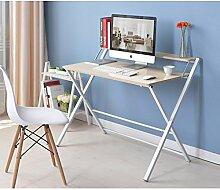 LJHA Klapptisch Tisch kleiner Tisch Bett mit Laptop Schreibtisch 4 Farben erhältlich Größe optional Tabelle ( Farbe : C )