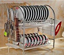 Ljia Regale Shelf Edelstahl-Schüssel Rack Spülmaschine Rack Küche Racks Regal Regal Regale ( größe : C )