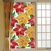 LJIEI Fensterfolie Fensterblume Milchglasfolie