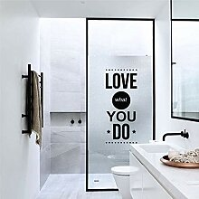 LJIEI Fensterfolie Glasfolie Badezimmer