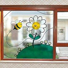 LJIEI Fensterfolie Nette transparente