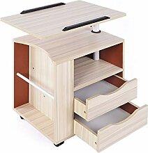 LJJL Nachttisch, Laptop-Tisch Beweglicher