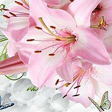 Ljjljj Romantische Rosa Lilie Blumen Fototapete