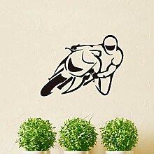 ljjljj Sport Motorrad Wandtattoos Reiter Kunst