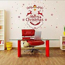 Ljtao Frohe Weihnachten Wandaufkleber Rentier