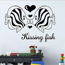 Ljtao Kissing Fish Wandaufkleber Für Kinderzimmer