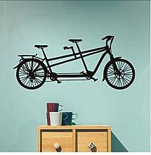 Ljtao Wandtattoo Vinyl Aufkleber Tandem Fahrrad