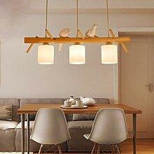 LJWJ Lampe Haushaltsleuchter, Holz Landhausstil