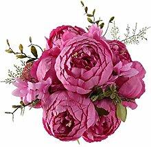 LJWL Künstliche flowerNew Heißer Rote