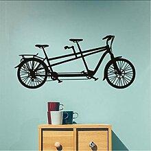 Lkfqjd Tandem FahrradWandaufkleber