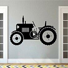 Lkfqjd Traktor Wandtattoo Große Reifen Farmer
