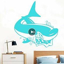 Lkfqjd Unterwasserwelt Wandaufkleber Fish Shark