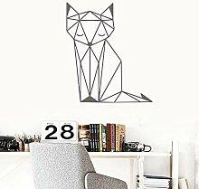 Lkfqjd Ziemlich Geometrie Fox Wandaufkleber