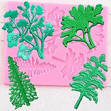 LKJHG Baumkuchen Grenze Silikonform Blätter