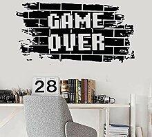 LKJHGU Brick Vinyl Wall Game Teens Spielzimmer