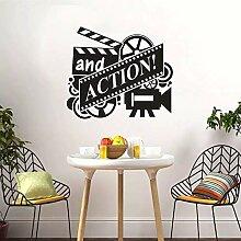LKJHGU Für Film Vinyl Tapete Film Film Wandkunst