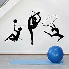 LKJHGU Gymnastik Silhouette Wand Sport Sportverein